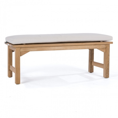 narrow teak backless bench