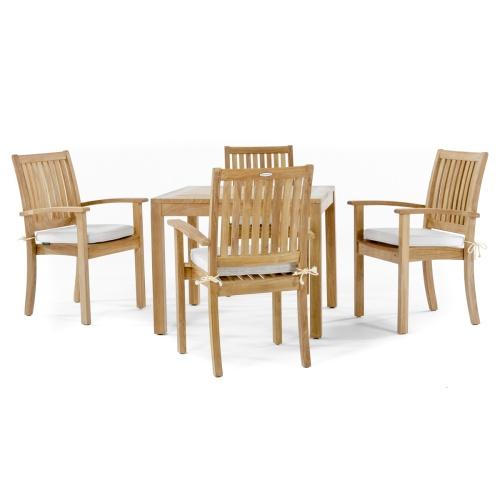 square teak tables