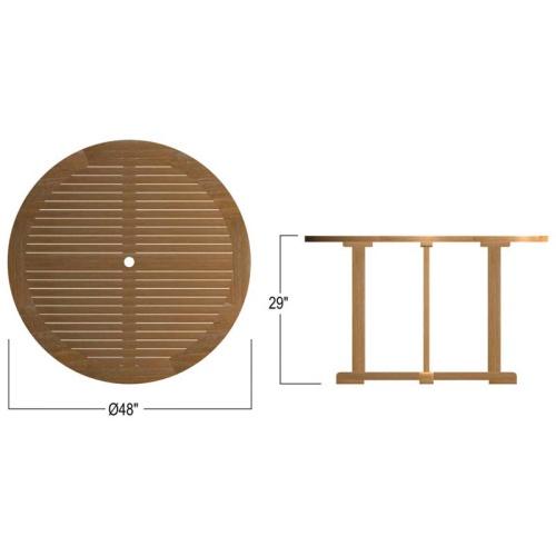 Outdoor Wooden dining Set Round