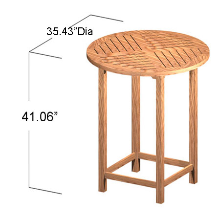 round teak bar table