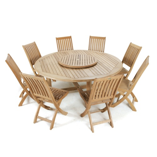 Outdoor Dining Table And Folding Chairs