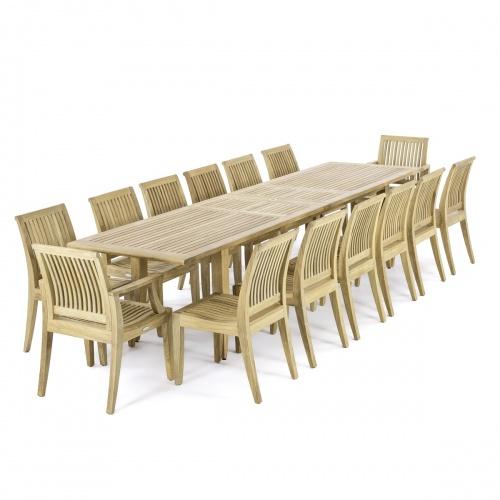teak extendable patio table