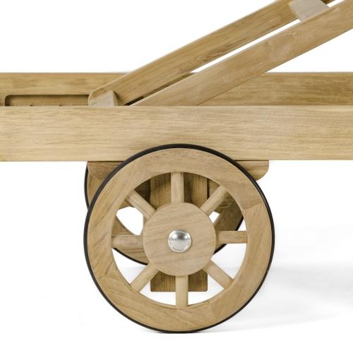 wooden steamer lounger