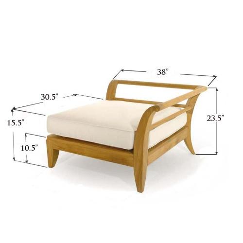 outdoor deep seating teak