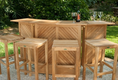 Teak Bar Set Outdoor