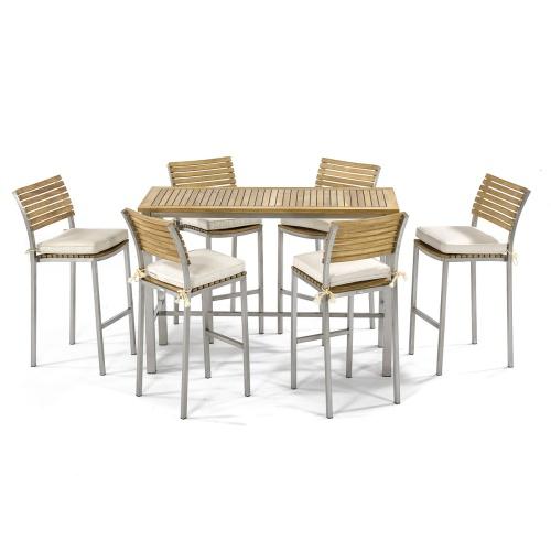 7pc Vogue Bar rectangular Table Set