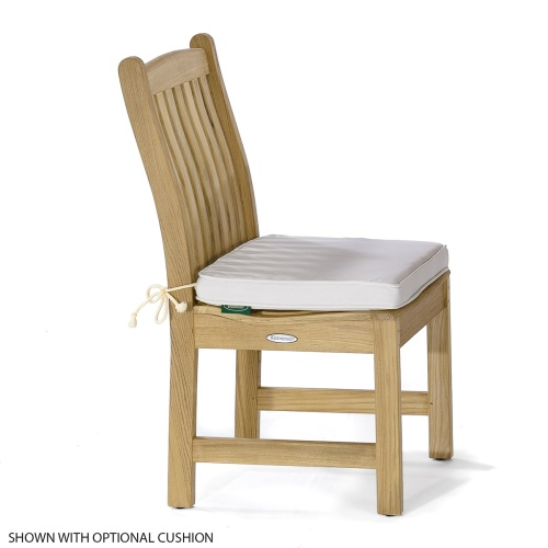 outside teak side chairs dining
