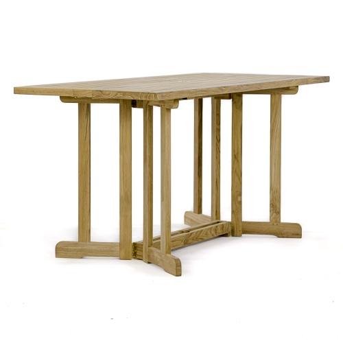 vintage folding teak table