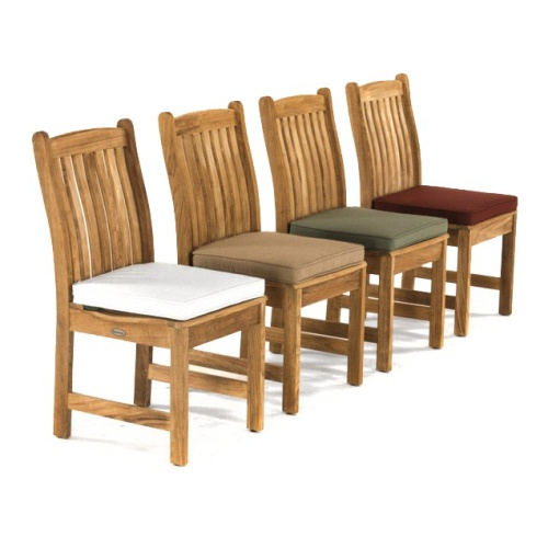 teak dining side chair with cushion