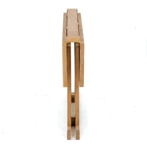 gateleg folding teak table 60