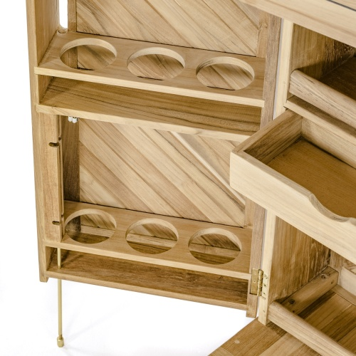 wooden bar with doors