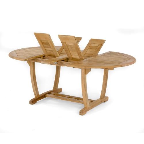 oval teak garden table