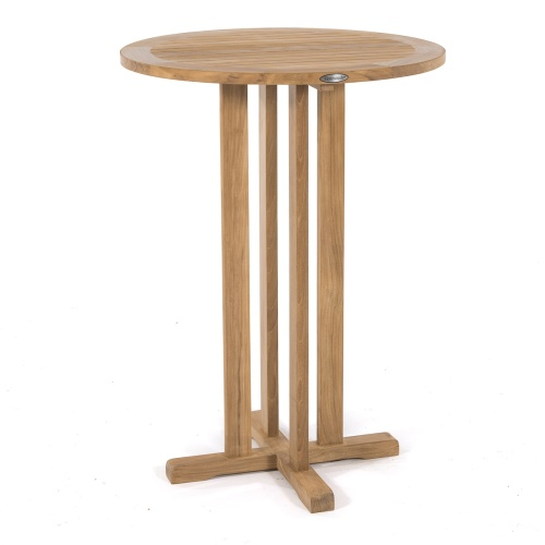 round bar table teak wood
