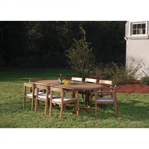 teak garden dining set for 8