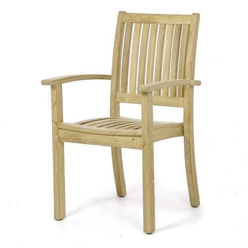 grade a teak stackable chair