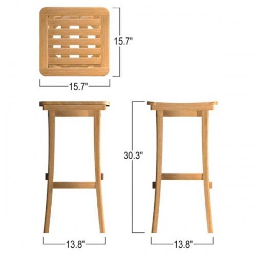 teak wood eco friendly bar stools