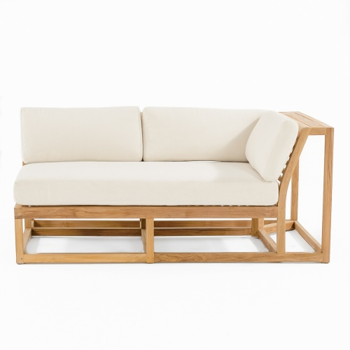 sofa sectional teak and sunbrella