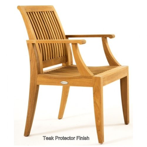 contoured wooden dining chair