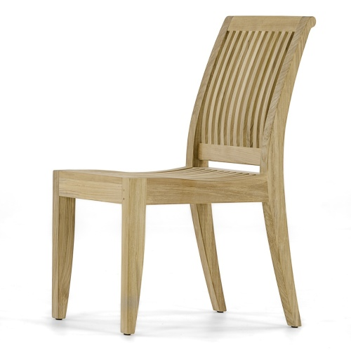 teak wooden contoured side chair