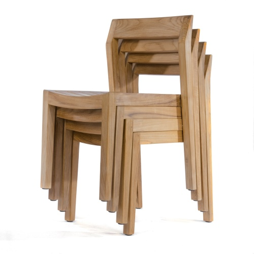 slatted teak outdoor chair