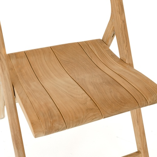 teak folding scissor chair