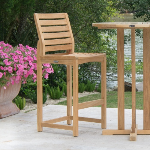 grade a teak outdoor furniture bar stools
