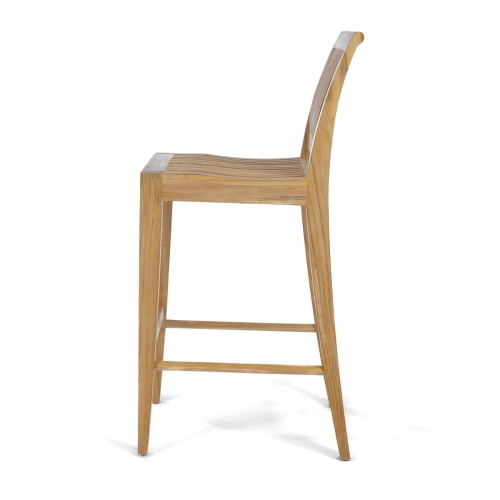 teak bar chair unfinished wood