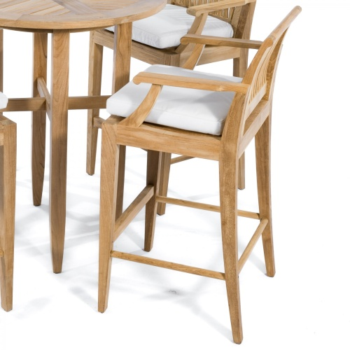 teak spectator height bar stools