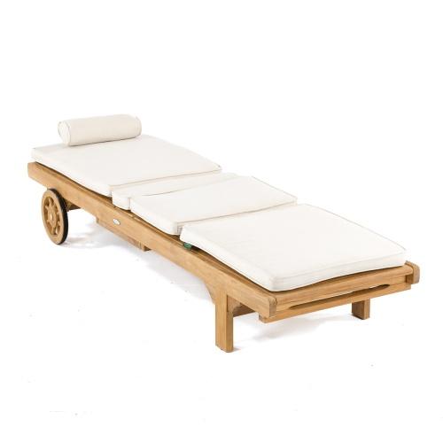 grade a tek wood sun lounger