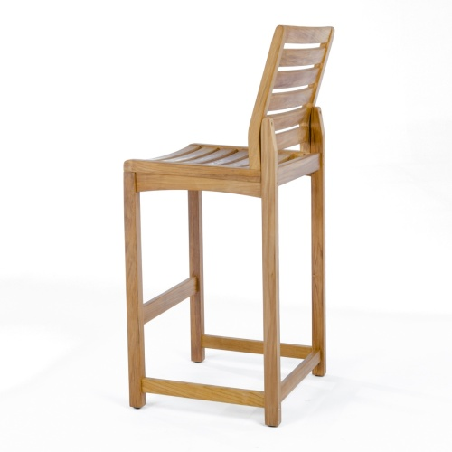 teak lumbar bar chair