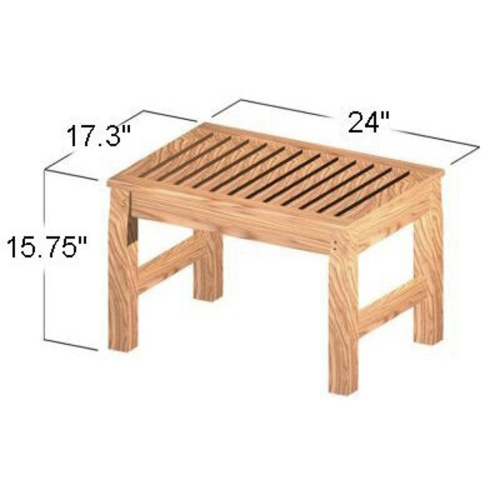 teak shower spa stool
