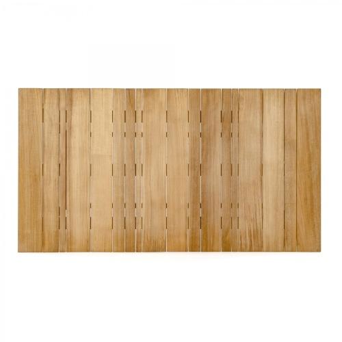 small rectangular teak tables for outdoors
