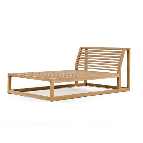 teak sectional lounger