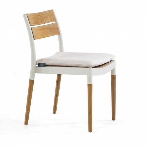 teak slats aluminum patio armchair