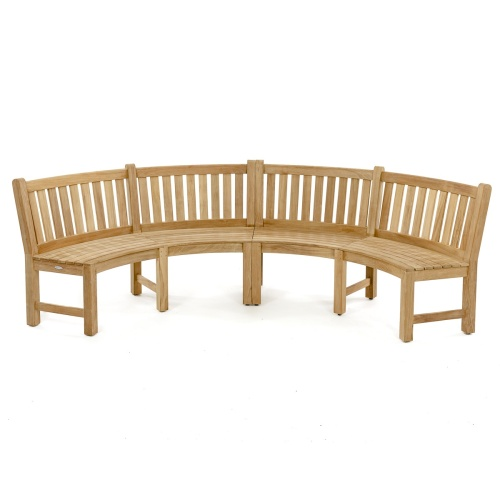 teak curved outdoor furniture
