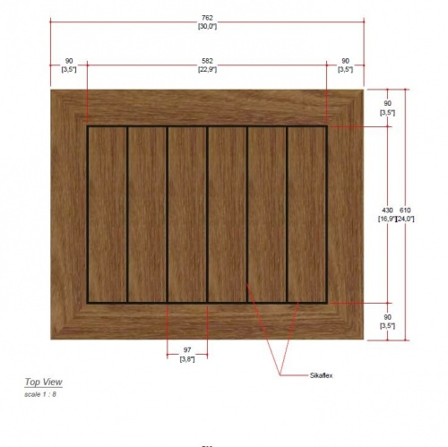 wooden rectangular solid table top