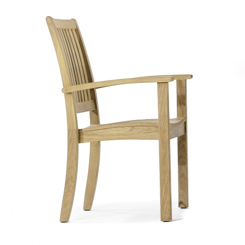 teak stacking outside chair
