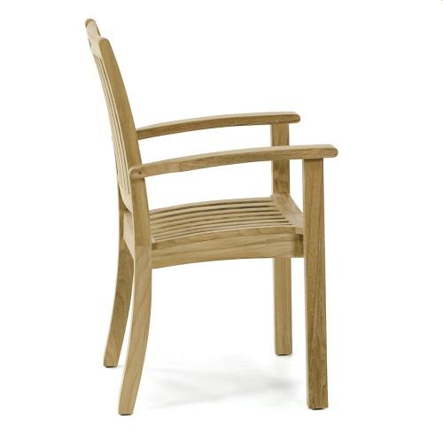 outdoor wooden stackable chair
