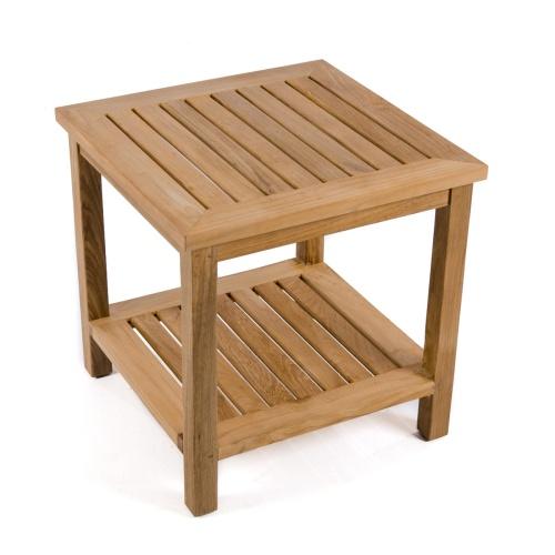 Teak side table square