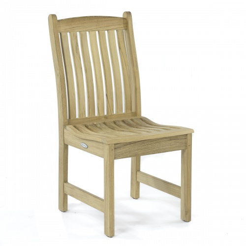 solid teak patio side chairs