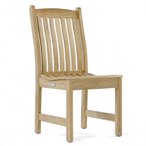 teak classic dining side chair