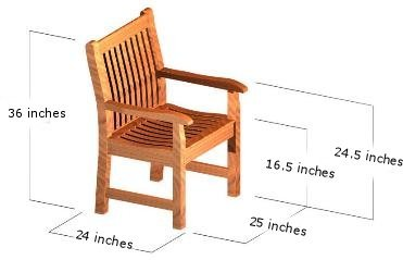 patio outdoor dining chair teak