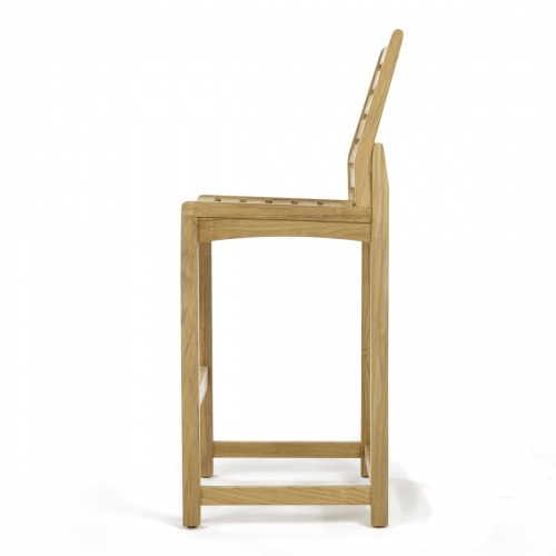 teak and stainless stool