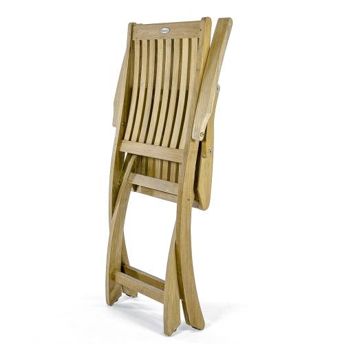 folding teak patio chair