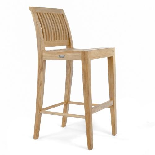 teak high bar stool