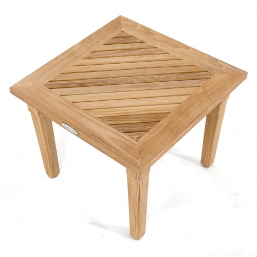 teak and wood side table