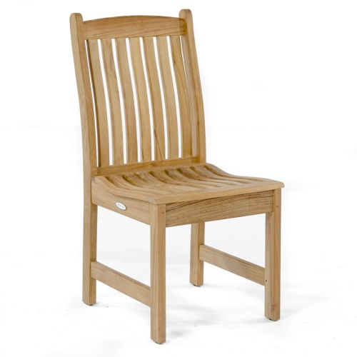 teak and stainless steel patio chairs