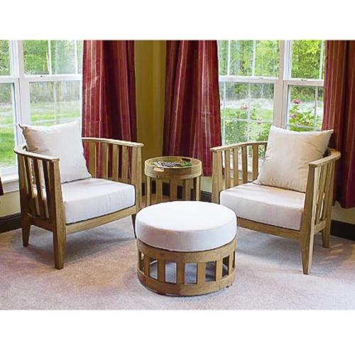 deep seating teakwood club chair
