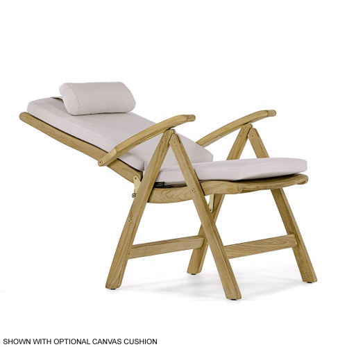 outdoor furniture teak recliner