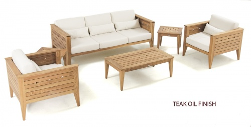 teak outdoor couch with end tables